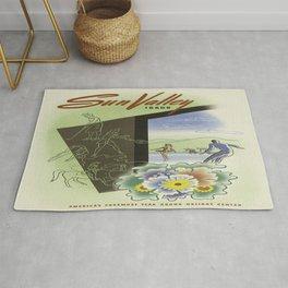 Vintage poster - Sun Valley, Idaho Rug