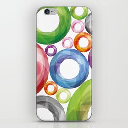 Colorful circles pattern iPhone Skin