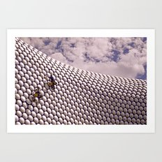 Cleaning the Discs Art Print