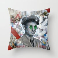soldier Throw Pillows featuring The Forgotten Soldier by FAMOUS WHEN DEAD