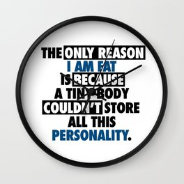 Big Body Awesome Personality Wall Clock