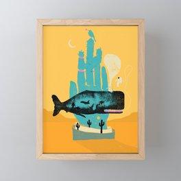 WHALE HAND Framed Mini Art Print