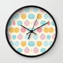 Cute Cartoon Head Pattern Art Wall Clock
