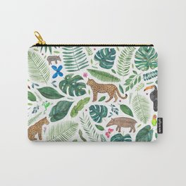 Jungle/Tropical Pattern Carry-All Pouch