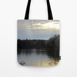 Downeast Autumn Reflections of Scattered Illuminations Tote Bag