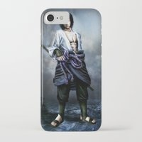 sasuke iPhone & iPod Cases featuring Sasuke real style portrait by Shibuz4