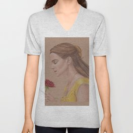 Emma Watson as Belle in Beauty and the Beast Unisex V-Neck