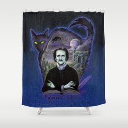 Edgar Allan Poe Gothic Shower Curtain