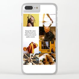 Hufflepuff Aesthetic Clear iPhone Case