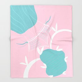 Babes at the Poolside #1 #painting #wall #decor #art #society6 Throw Blanket