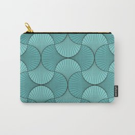 Gingko - Minimal Flower Leaves Mint Carry-All Pouch