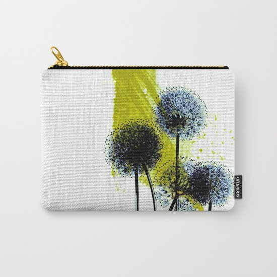 blue dandelion on abstract background Carry-All Pouch