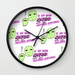 not Coffee its Cofee Wall Clock