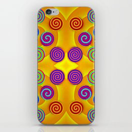Colorful soft twirls by wool iPhone Skin