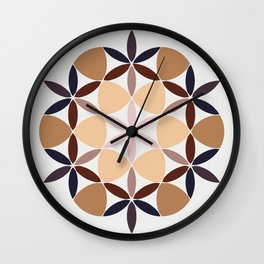 Flower of life - colored Wall Clock
