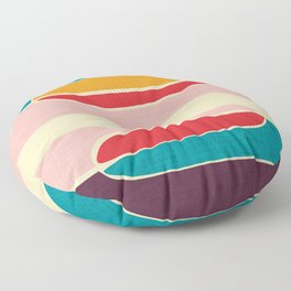 Wondering Waves #homedecor #midcenturydecor Floor Pillow