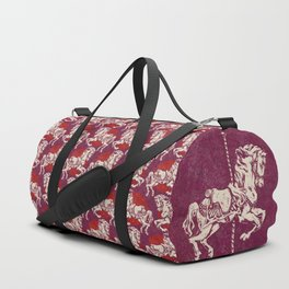 Vintage Carousel Horse - Mulberry Duffle Bag