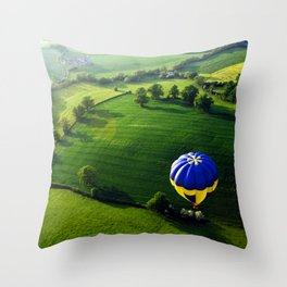 Above The Shires Throw Pillow