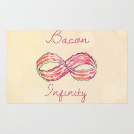 Bacon infinity Rug