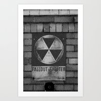 fallout Art Prints featuring Fallout by Lia Bedell