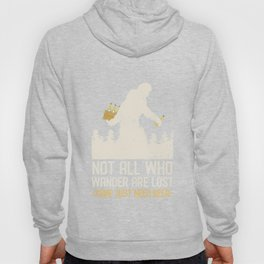 Bigfoot On A Beer Run Not All Who Wander Are Lost Hoody