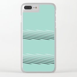 Tiffany blue abstract Clear iPhone Case