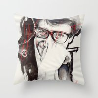 ysl Throw Pillows featuring YSL by Mitja Bokun