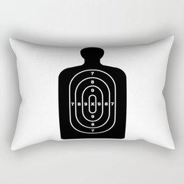 Human Shape Target Rectangular Pillow