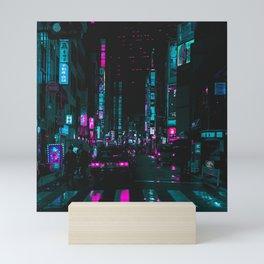 cyberpunk lost street Mini Art Print