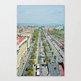 Barcelona from above Canvas Print