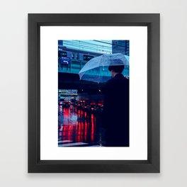 Tokyo Nights / Rain over Tokyo / Liam Wong Framed Art Print