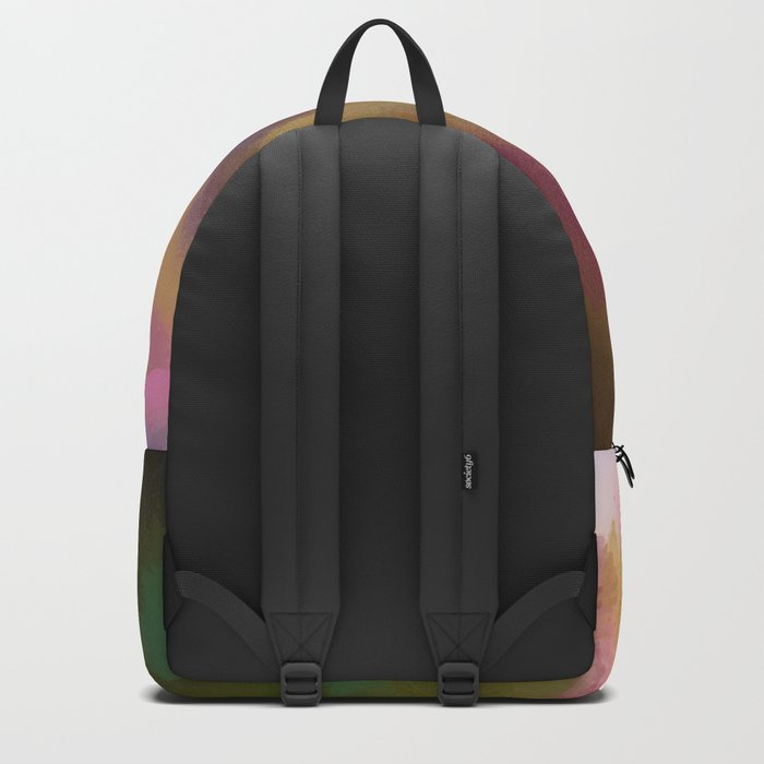 Autumn splendour, abstract painting with leaves Backpack