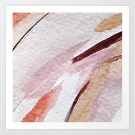 Away [2]: an abstract mixed media piece in pinks and reds Art Print