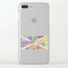 Pansexual Pride UK Flag Streetwear Style Clear iPhone Case