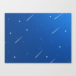 Shooting Stars in a Clear Blue Sky Canvas Print