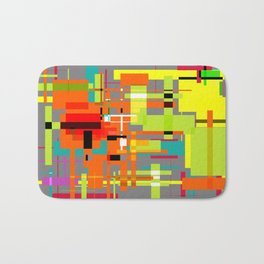 Lines and Sqaures Bath Mat