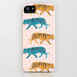 Pop Tigers on blush iPhone Case
