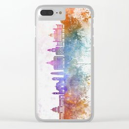 Havana V2  skyline in watercolor background Clear iPhone Case