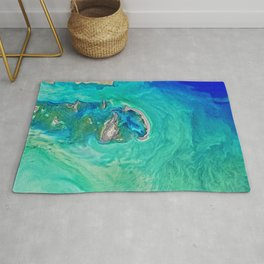 The Turquoise Blue Sea Rug