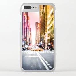 Big Apple Dream in the New York City Downtown Manhattan Clear iPhone Case