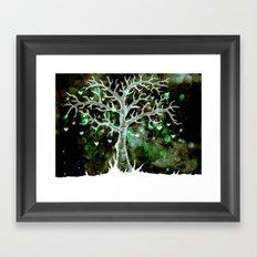 Heart & Star Tree (inversion)  Framed Art Print