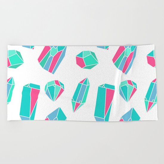 Diamonds & minerals Beach Towel