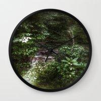 woodland Wall Clocks featuring Woodland by Geni
