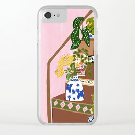 Bohemian stairs Clear iPhone Case