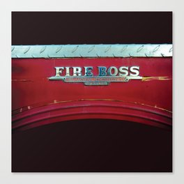 Fire Boss - Fort Worth - Fire Engine Red and Chrome Canvas Print
