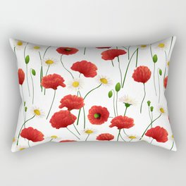 Poppies and daisies Rectangular Pillow