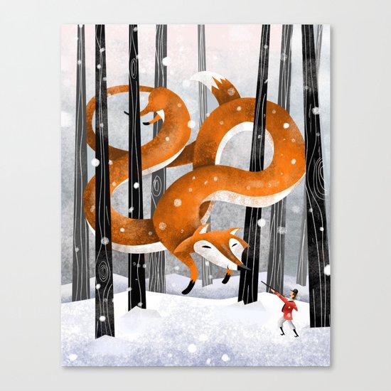 Giant fox Canvas Print