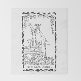 THE MAGICIAN TAROT CARD Throw Blanket