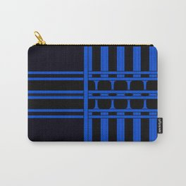 Bright Bold Blue Lines Design Carry-All Pouch
