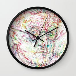 JAMES JOYCE portrait Wall Clock